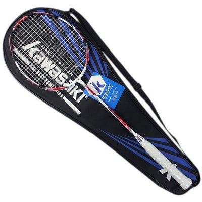 Kawasaki 川崎羽球拍 2000/一支入(定1950) 附背拍袋 有穿線 全碳纖維羽拍 羽毛球拍 羽拍-群KBD5