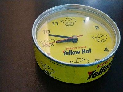 日本Yellow Hat 罐頭時鐘 (電池室鏽蝕 故障品)