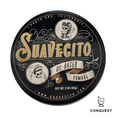 【 CONQUEST 】Suavecito Oil Based Pomade 古龍水香味 油性髮油 易重塑 復古精緻鐵盒
