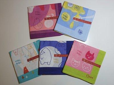 《散步生活雜貨-和雜貨散步系列》日本製 mai mai 綿100% 手帕 - 五款選擇