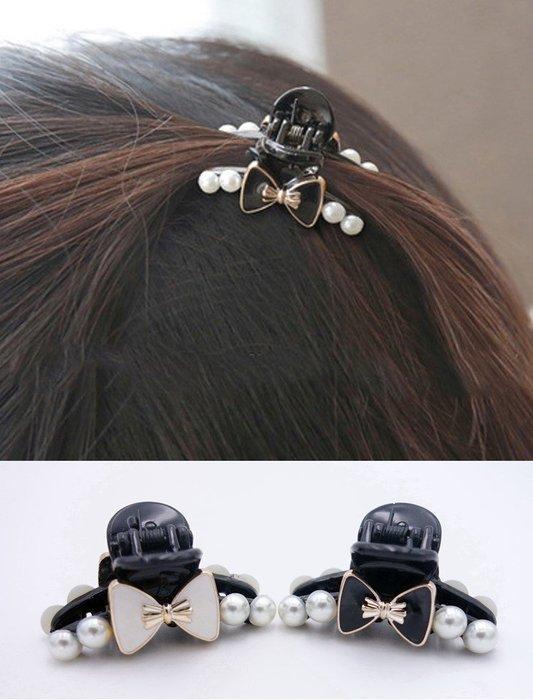 鑲鑽珍珠抓夾 小號 抓夾 頭飾 髮夾 鯊魚夾 瀏海夾 頂夾