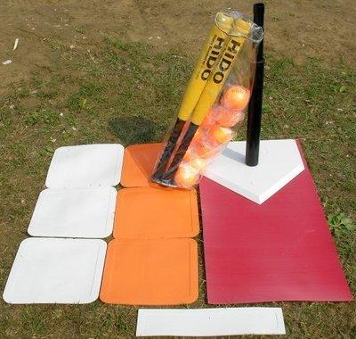 【A' SPORT】HIDO樂樂棒球比賽組-組合一(含重型打擊座x1+球棒x2+球x10+透明防水袋+輕型壘包組)