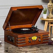 【優上精品】仿古留聲機 LP黑膠唱片機 老式電唱機 cd MP3 收音 (Z-P3244)