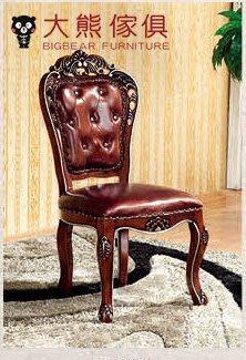 【大熊傢俱】RE1055  新古典餐椅 布椅子 休閒椅 歐式 書椅 法式