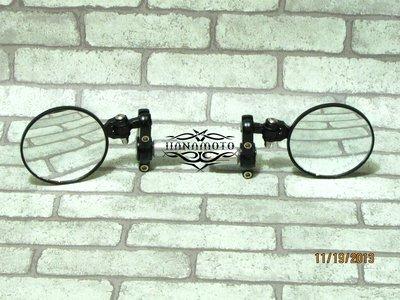 車把鏡 邊鏡 金屬改裝折疊式手把後照鏡反光鏡cafe racer yamaha mt-03 mt-07 mt-09 台中市