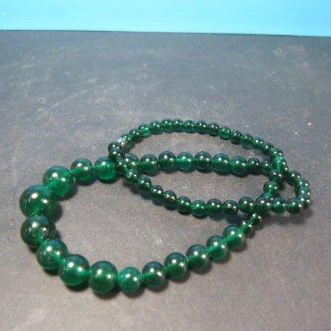 【競標網】高檔天然漂亮綠瑪瑙褡珠項鍊(超低價起標、價高得標、限量一件、標到賺到)