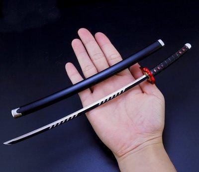 【現貨- 送刀架】『  灶門炭治郎三代  』25.5cm ( 日輪刀 ) 刀 劍 槍 武器 兵器 模型 非鬼滅之刃