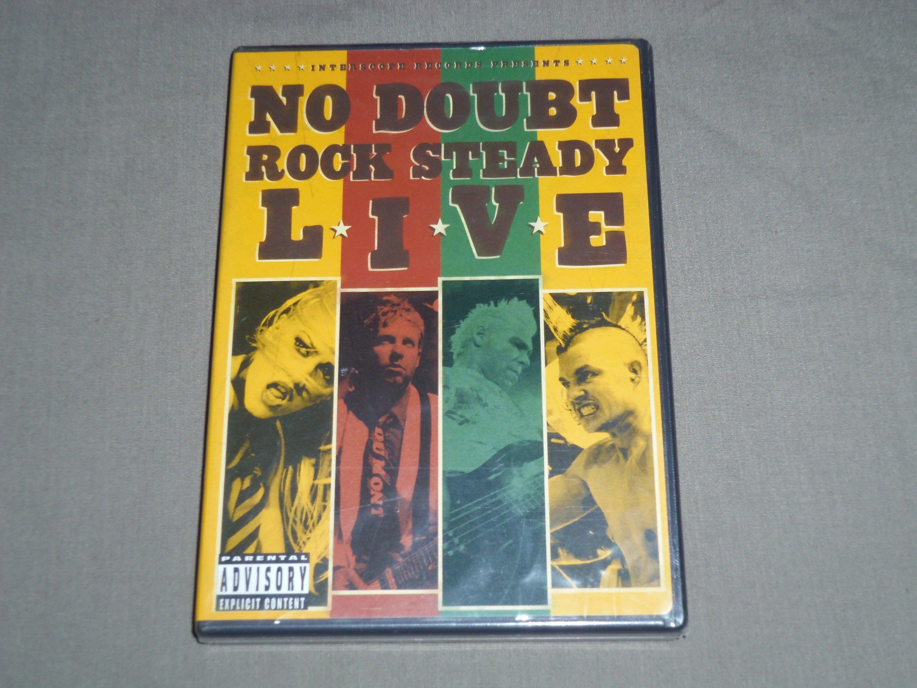 不要懷疑合唱團NO DOUBT-搖滾萬萬歲ROCK STEADY LIVE魅力四射現場全記錄DVD-全新未拆