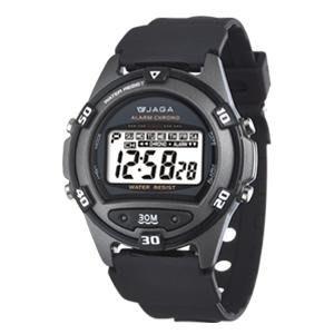 【元電】【JAGA 專賣店】台灣設計 捷卡  M267-A(黑) 電子錶 大數字 倒數計時 鬧鈴