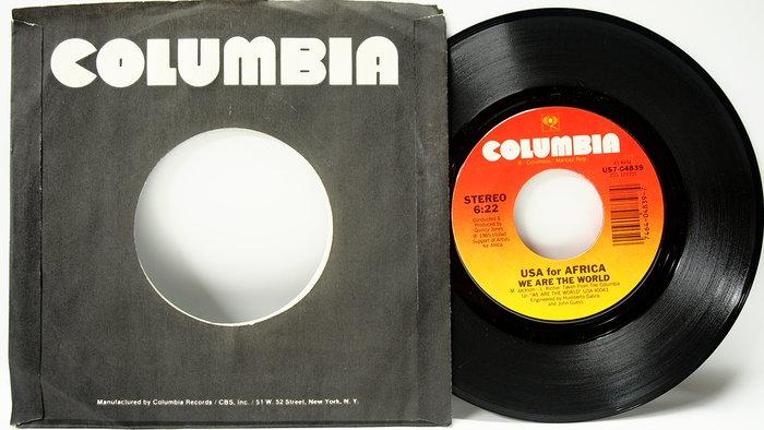 45 rpm 7吋單曲 We are the Wolrd 1984 美國CBS首版