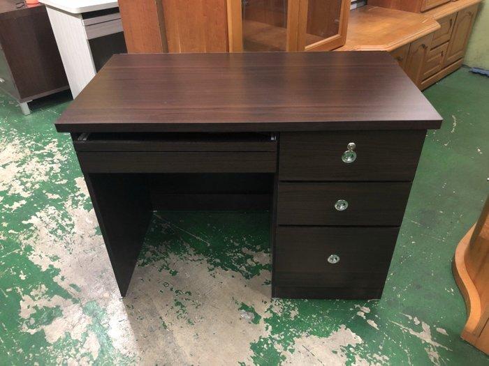 非凡二手家具 全新胡桃三抽電腦桌*書桌*辦公桌*寫字桌*木桌*會計桌*洽談桌*工作桌*事務桌