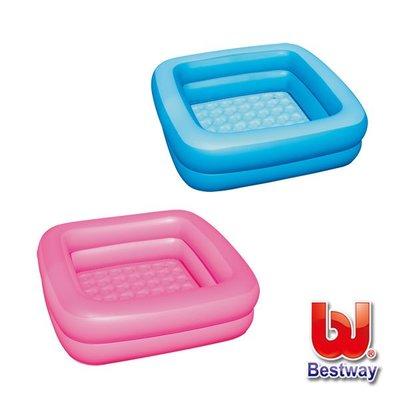 金潮派-Bestway 寶寶方型充氣浴盆/ 浴池/ 水池-藍色、粉色(69-10421) 桃園市