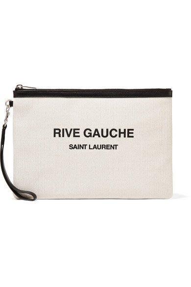 【代購】Saint Lauret 帆布 手拿包