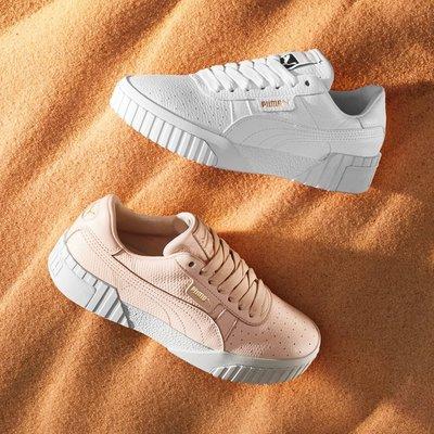 日本代購 PUMA Cali 女力鞋款PUMA Cali Emboss 全白 粉嫩 兩色 女鞋 全台限量50雙 手慢無(Mona)