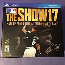 PS4 MLB The Show 17 Hall of Fame Edition 美版 名人堂版