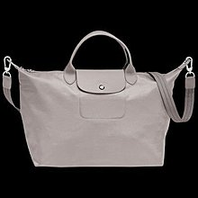 Longchamp Le Pliage Neo 厚尼龍 短把 兩用水餃包 岩石灰(L)