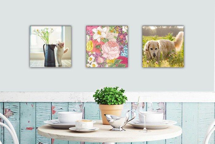 客製化(25x25cm)油畫無框畫 相框 婚紗 情人節 畢業 全家福 風景 寵物 毛孩 滿月 相片 照片 印刷 畢製展覽