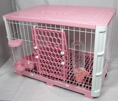 【優比寵物】歐式宮廷NO.611-M寵物籠/寵物屋/兔籠《全配件》附碗式自動餵食器/飲水器  -台灣製造-