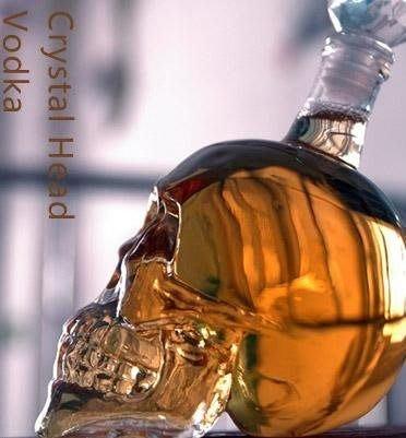(I LOVE樂多)日本進口 骷髏玻璃酒瓶 送人自用兩相宜
