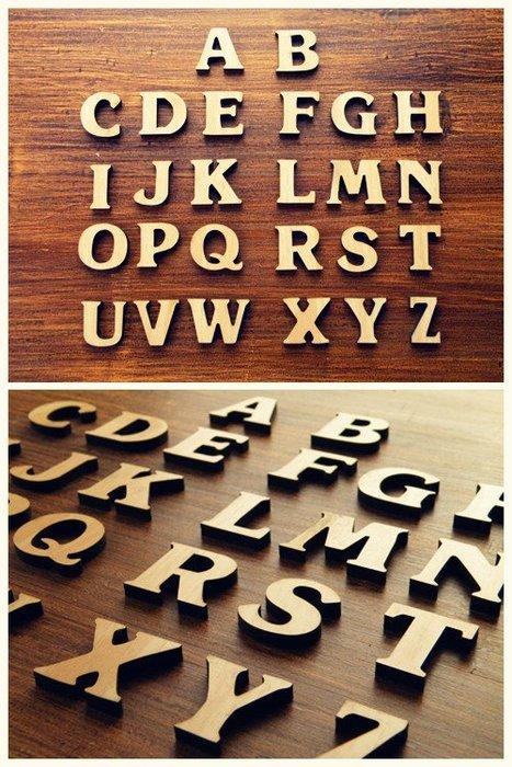 [ Atelier Smile ] 鄉村雜貨 森系萌物 木製DIY字母圖形動物數字 掛牌門牌  木貼 多款選 (現+預)