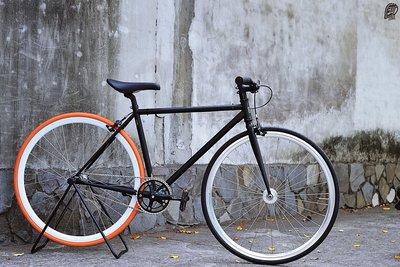 樂多單車社 RUBEN ELEMENT 單速車 Fixed Gear 客製化 自由配色 消光黑+橘色
