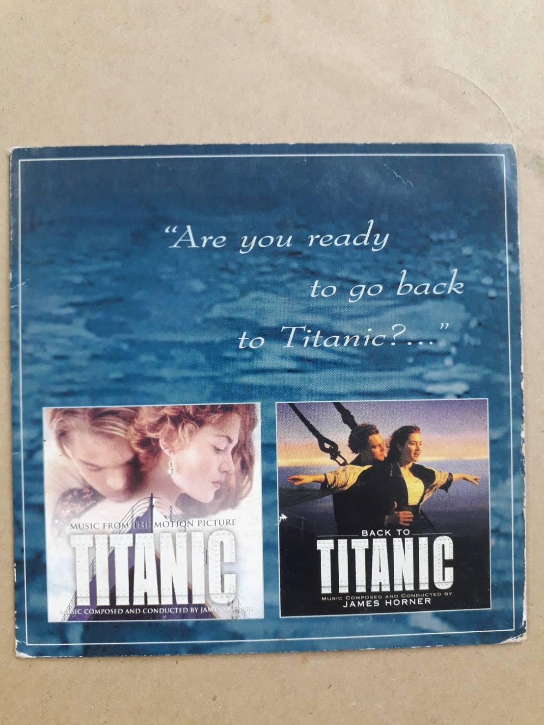 (標即結)(絕版)Are You Ready To Go Back To Titanic? 鐵達尼號電影原聲帶宣傳單曲
