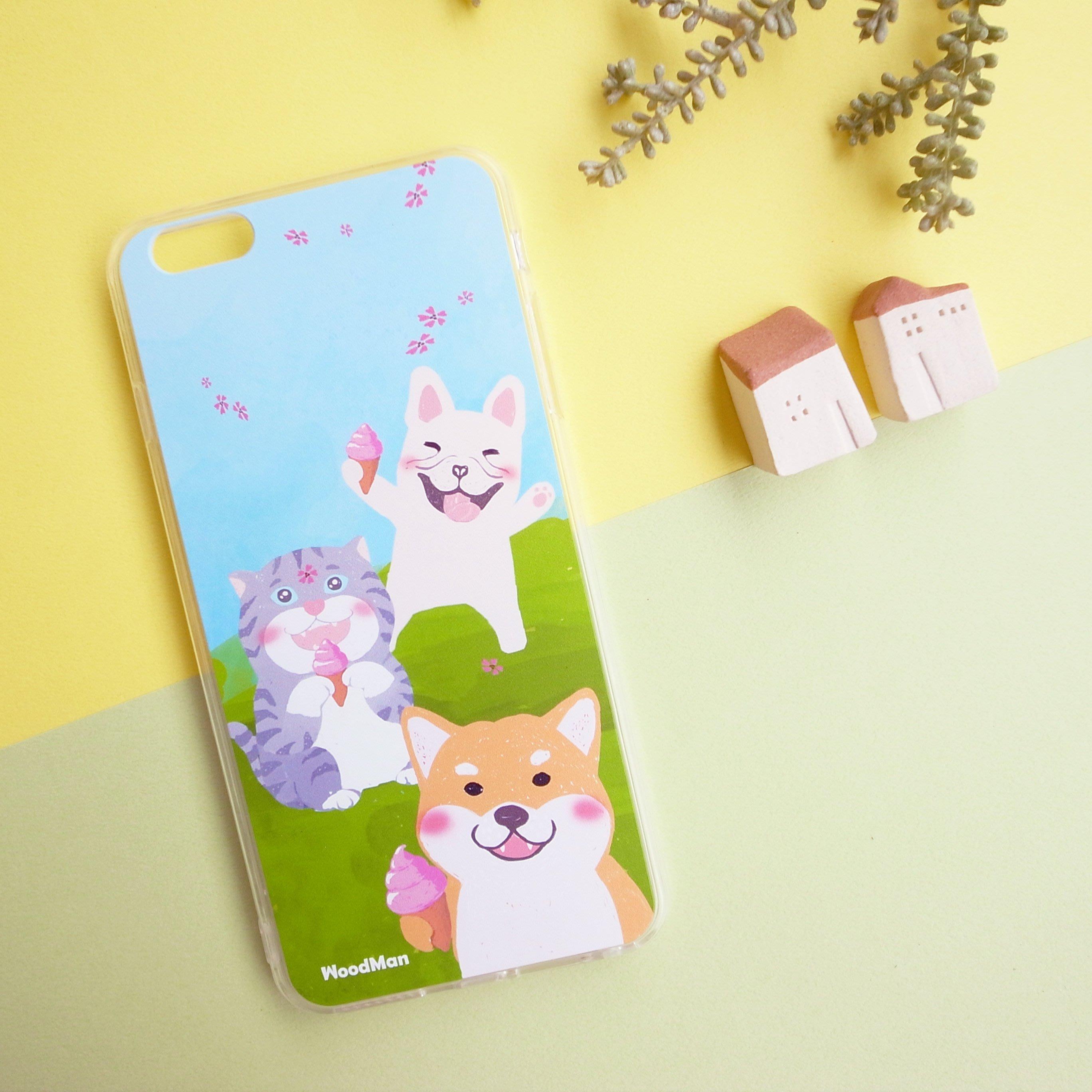 柴柴與他的閨蜜們,野餐系iPhone手機殼(透明軟殼)