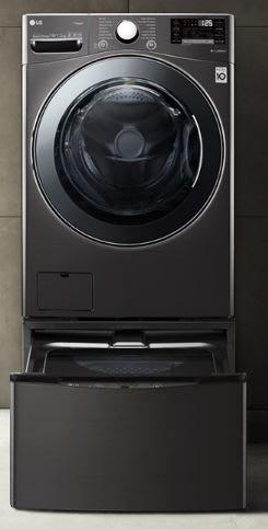 【棋杰電器】LG WT-D250HB+WD-S19VBS  滾筒式洗衣機/蒸洗脫烘/尊爵黑/2.5KG+19KG