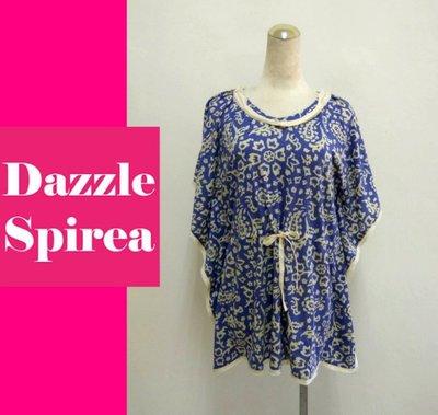 【古風】全新~港星最愛品牌~ 香港設計師品牌Dazzle Spirea 民族風蝙蝠袖棉麻衫-1