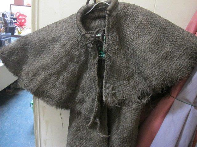 二手舖 NO.2265 早期農民古董收藏 成人蓑衣 古早雨具雨衣