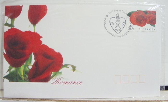 (全新) 澳洲1999年- 浪漫玫瑰 - 首日封