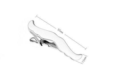 素色金屬 優雅造型領帶夾 男士法式襯衫領帶夾210127