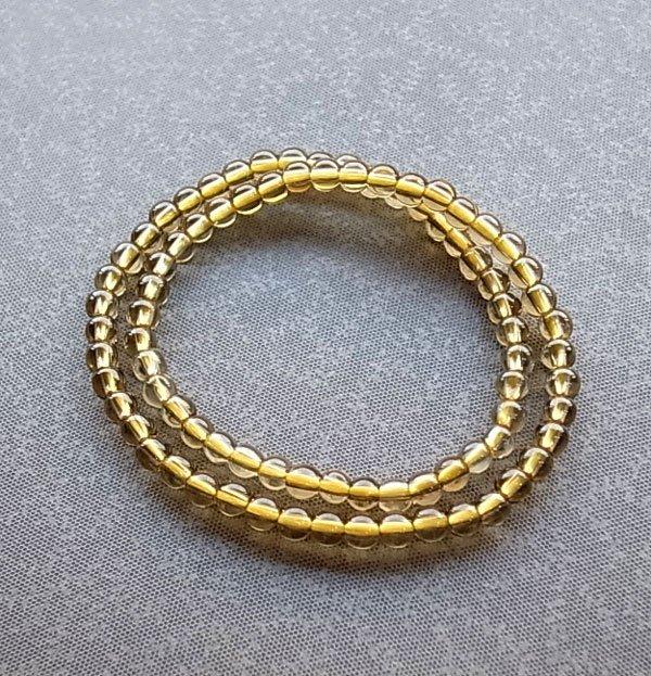 ☆采鑫天然寶石☆ ~小金~頂級天然無處理黃水晶手鍊~巧緻款~4.3mm~雙圈式手鍊~小手圍