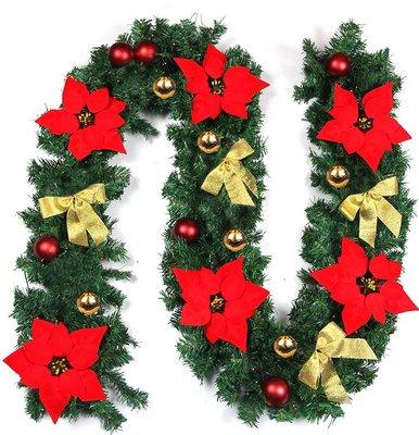 *千層星球大批發*【DIY聖誕200cm樹藤】(含飾品)聖誕場地佈置用品*聖誕樹藤門眉 派對 吊飾 桃園市