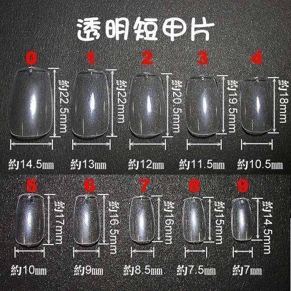短甲的喔~《專業短指甲片-每包500片裝,不混裝》~有透明及自然色(全貼)等二款