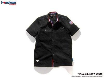 HOMETOWN 11S/S Twill Military Shirt 黑色 M號