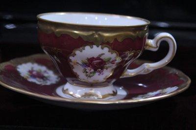 ☆德國名瓷 WEIMAR , COBALT & Gold   紅色鈷金系列 精緻杯組(L) ☆