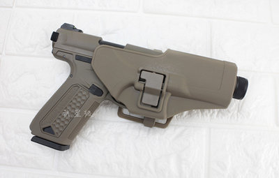 台南 武星級 Action Army AAP-01 瓦斯槍 沙 + 槍套 ( GBB槍BB槍BB彈玩具槍模型槍手槍短槍