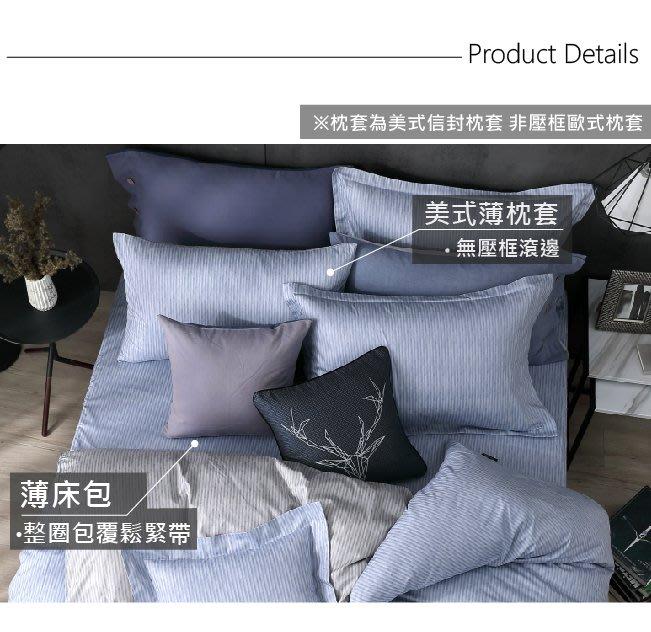 【OLIVIA 】DR870 魯爾 藍 美式信封式枕套【兩入】(不含床包) 玩色系列 100%精梳棉 台灣製