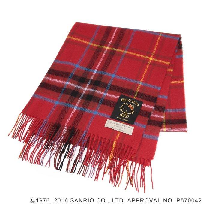 Kitty 100%羊毛圍巾 披肩《紅蘇格蘭紋》Lochcarron 蘇格蘭製造 日本帶回現貨免運費 小日尼三 41+