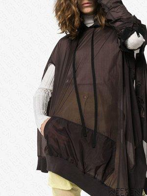 【WEEKEND】 UNRAVEL 特殊剪裁 挖空 連帽 寬鬆 長版 衛衣 微透視 19春夏