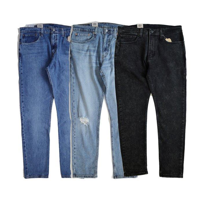 【 Wind 】 美線 512™ Slim Taper 修身錐形窄管 小破壞 牛仔褲 上寬下窄 抽鬚 彈性纖維