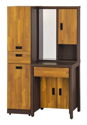 【行家家飾】8凱-B60153 集成雙色 2尺鏡台含椅(不含1.2尺活動櫃)  另有其他系列寢具組可選擇點選超連結售完為止