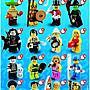 絕版品【LEGO 樂高】積木/ Minifigures人偶系列: 2代人偶包抽抽樂 8684 | #8 救生員女孩