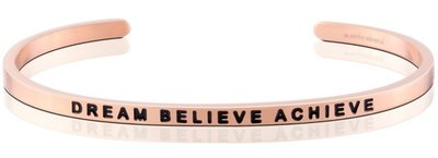 MANTRABAND 台北ShopSmart直營店 美國悄悄話手環 Dream Believe Achieve 玫瑰金