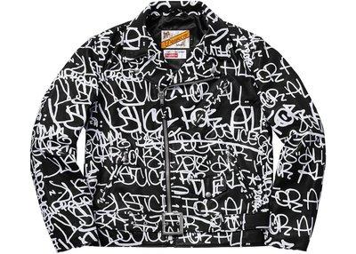 【美國鞋校】  預購 Supreme FW18 CDG Painted Perfecto 黑色夾克