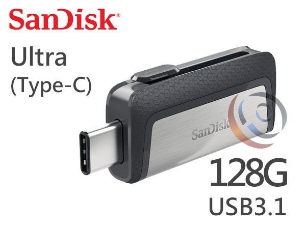 「ㄚ秒市集」Sandisk Ultra 128G 128GB Type-C 雙用隨身碟 USB3.1 側推SDDDC2