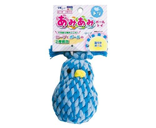☆SNOW的家☆日本TK Tarky - 編織啾啾球 啃咬 潔牙玩具-搖滾鳥 (82760232