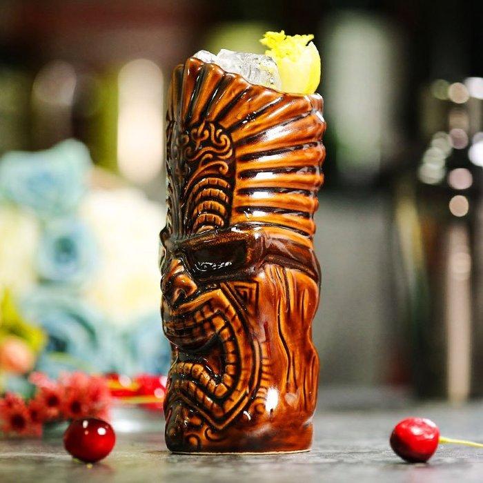999玻璃杯 威士忌杯 酒杯 啤酒杯 酒吧 搖滾黑幫 酒吧tiki杯提基雞尾酒杯 夏威夷雞尾酒杯陶瓷杯 TikiMug
