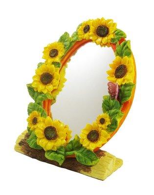 賠售~向日葵相框鏡子D0073